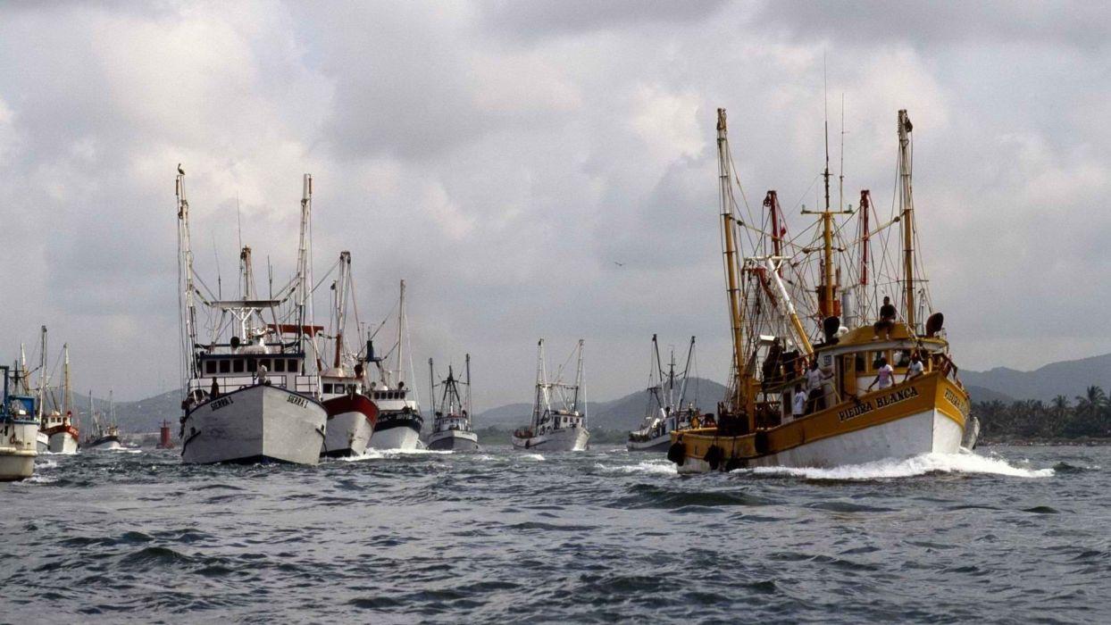 Mexico fishing port wallpaper