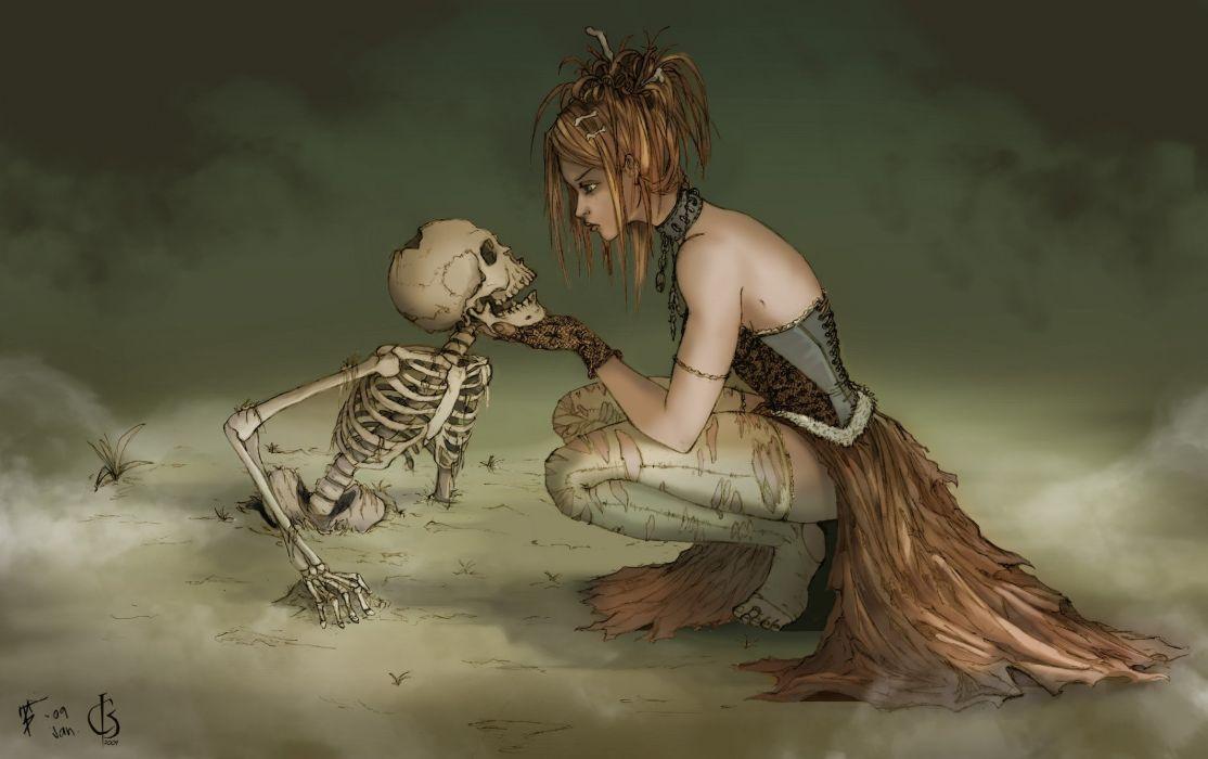 skeletons artwork wallpaper