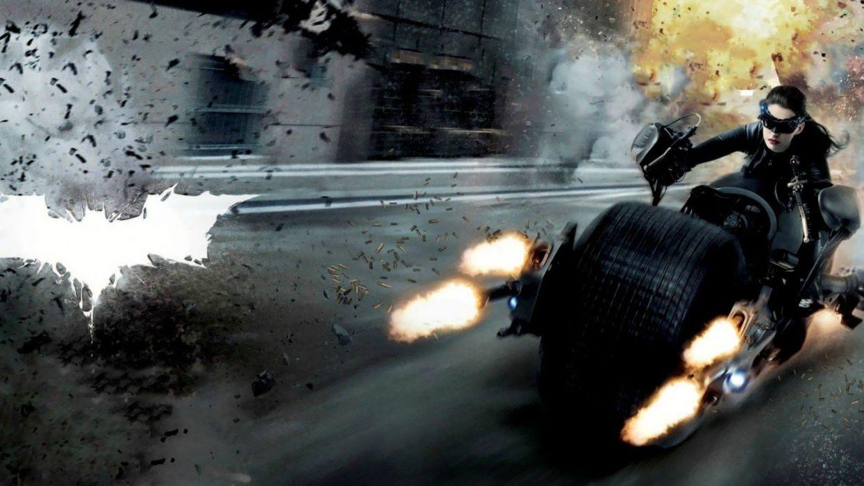 women Anne Hathaway actress Catwoman Batman The Dark Knight Rises wallpaper