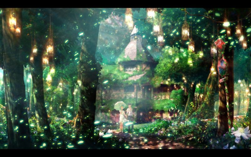couple scenic anime wallpaper