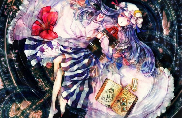 video games Touhou Patchouli Knowledge wallpaper
