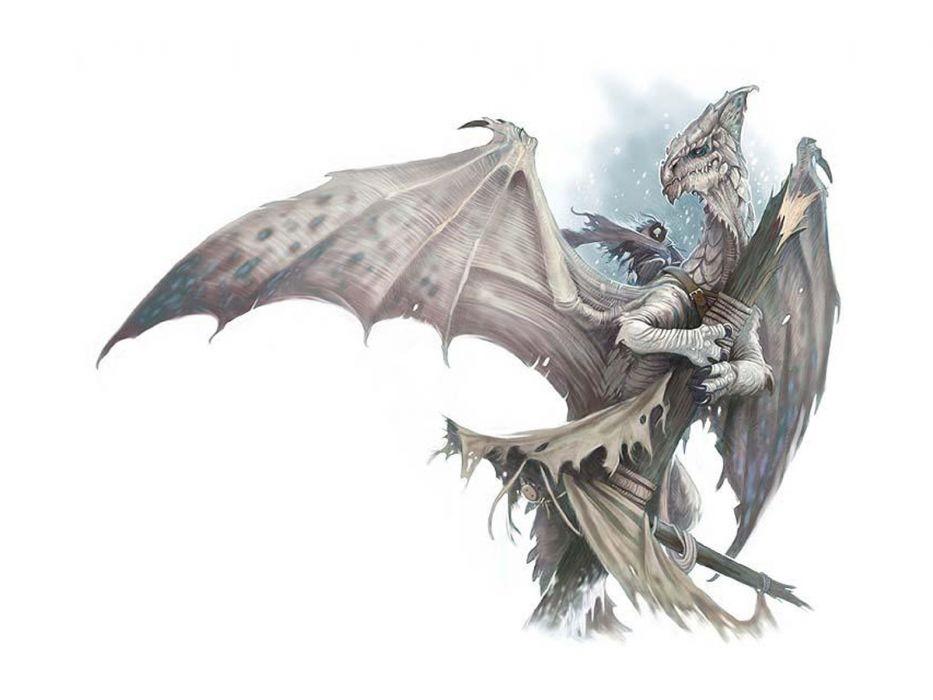 dragons Medusa fantasy art simple background white background wallpaper