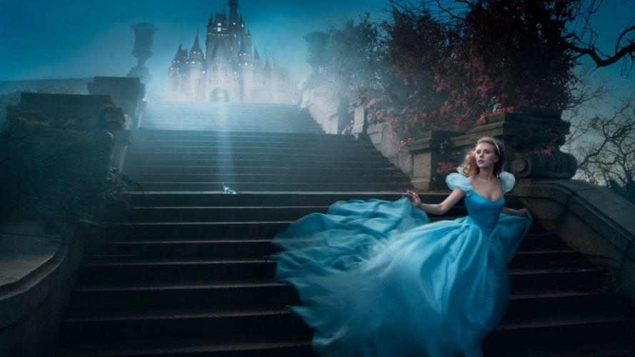 blondes women Scarlett Johansson models stairways Cinderella Annie Leibovitz wallpaper