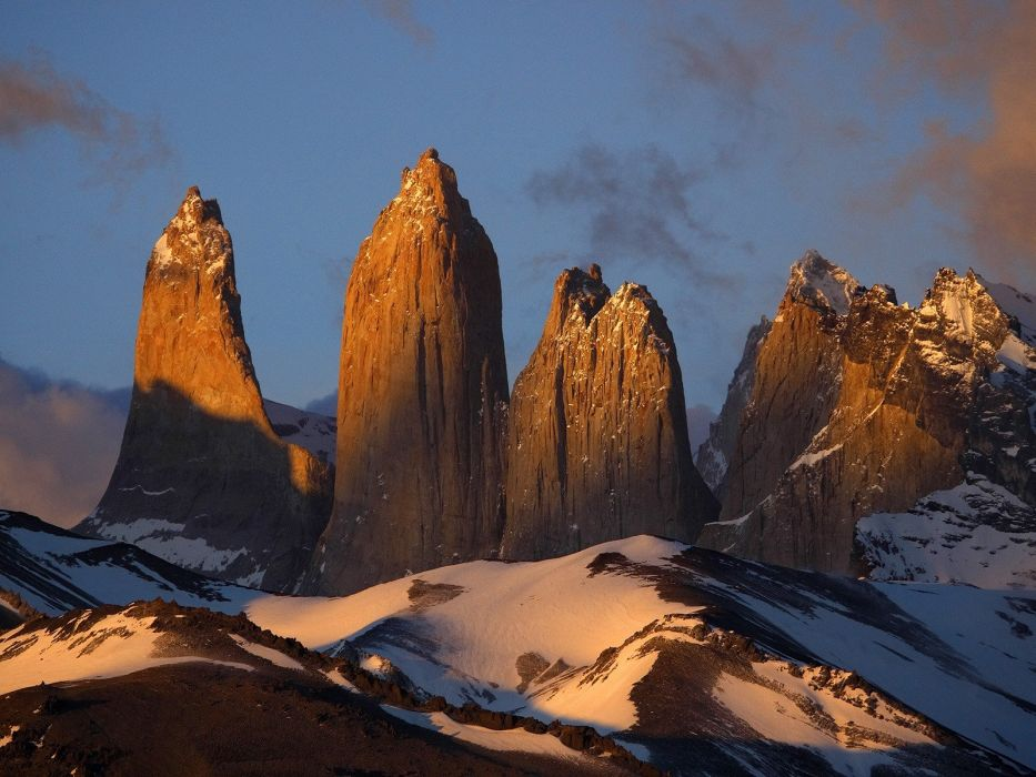 Chile landscapes nature National Park Paine torres wallpaper