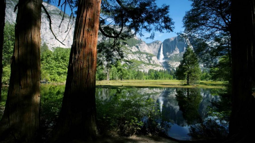 falls California National Park Yosemite National Park wallpaper