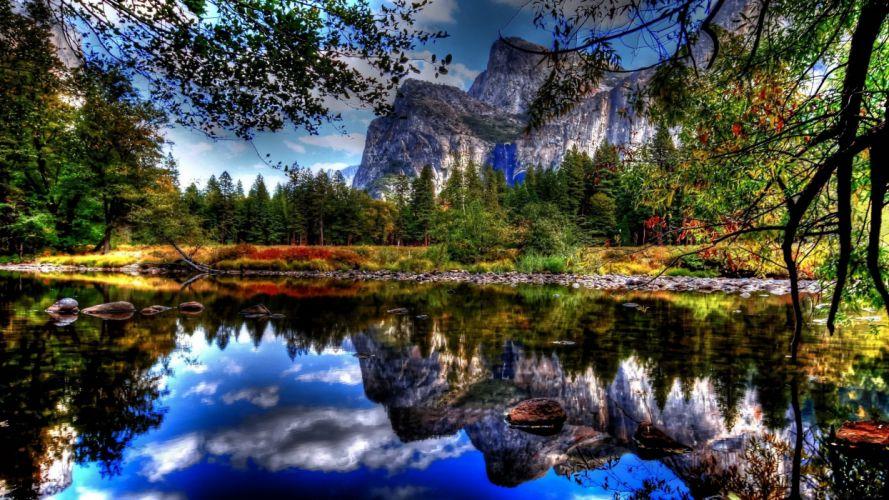 landscapes Yosemite National Park wallpaper