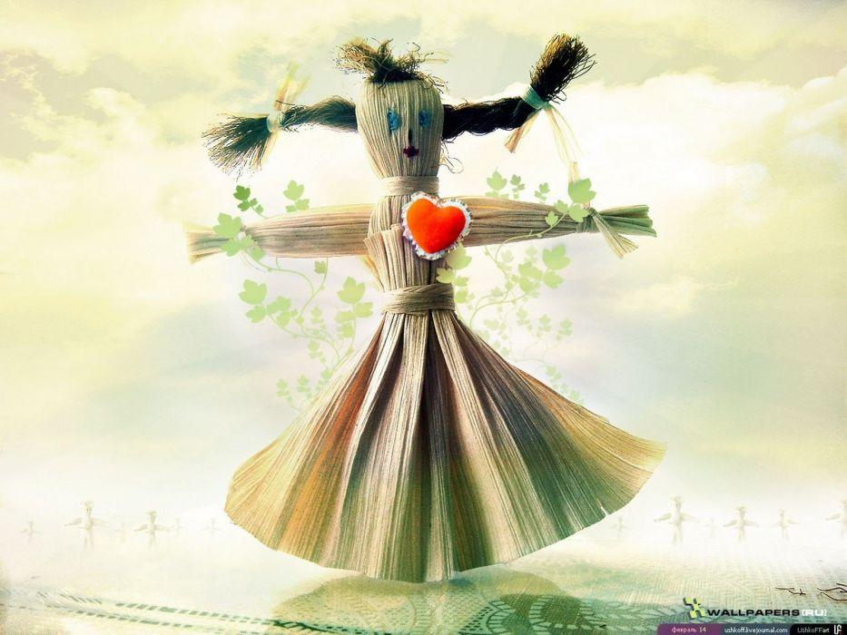 love scarecrow digital art wallpaper