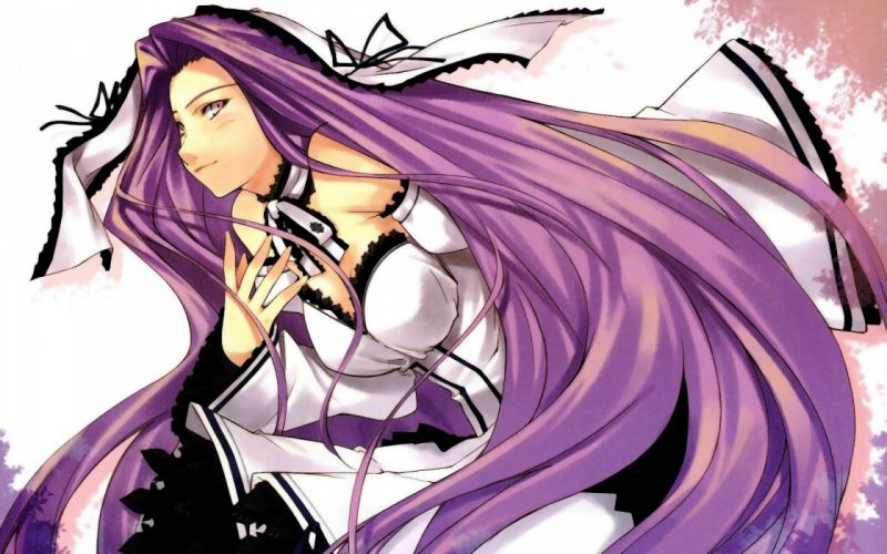 women Fate/Stay Night anime girls Rider (Fate/Stay Night) Fate series bare shoulders wallpaper