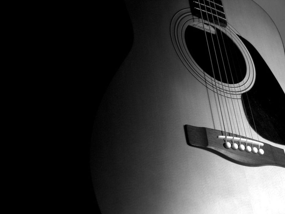 acoustic guitars guitars monochrome greyscale wallpaper