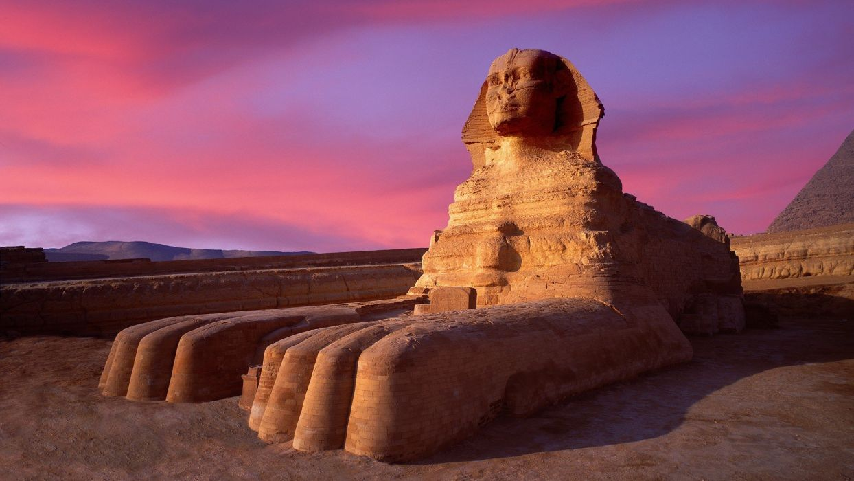 Egypt sphinx Giza evening wallpaper