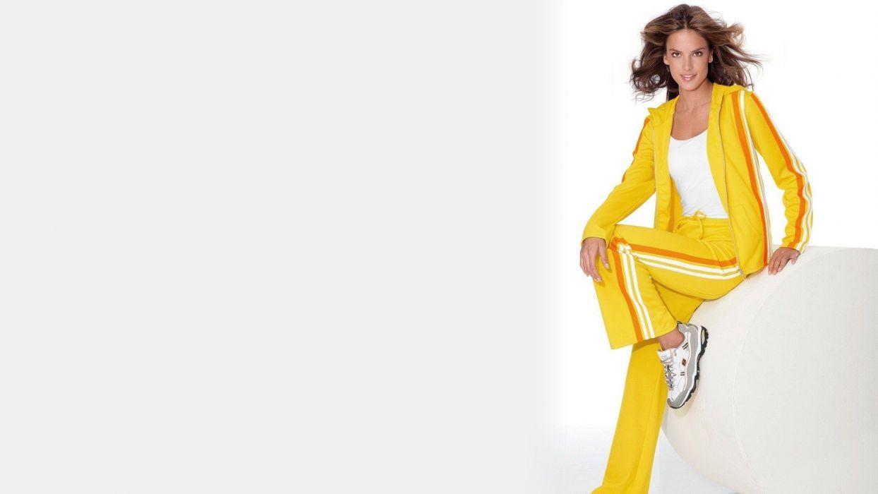 brunettes women models celebrity Alessandra Ambrosio wallpaper