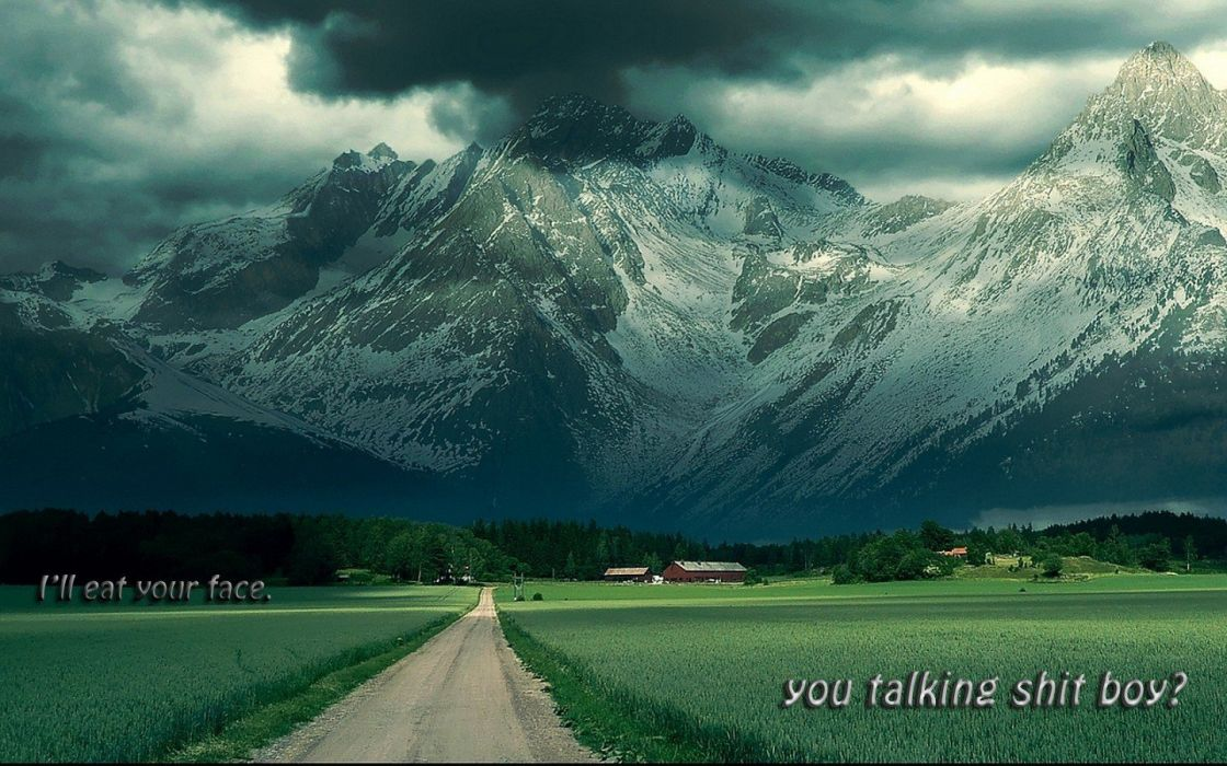 mountains clouds nature quotes wallpaper