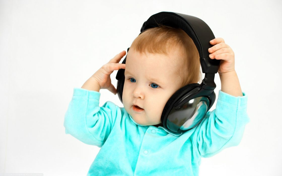 headphones baby wallpaper