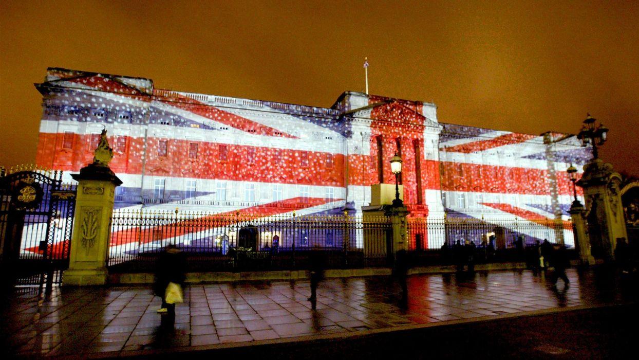 England London illuminated Buckingham Palace wallpaper