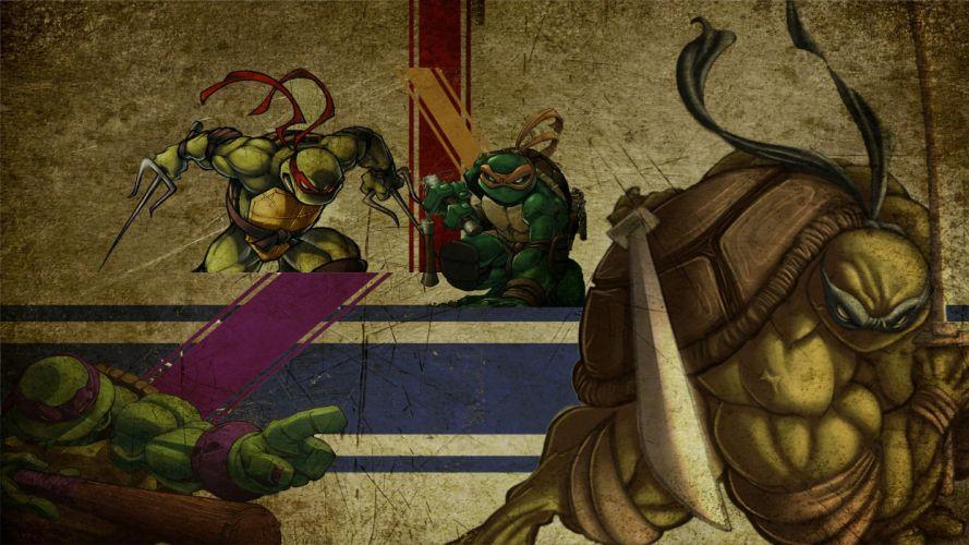 grunge superheroes Teenage Mutant Ninja Turtles wallpaper
