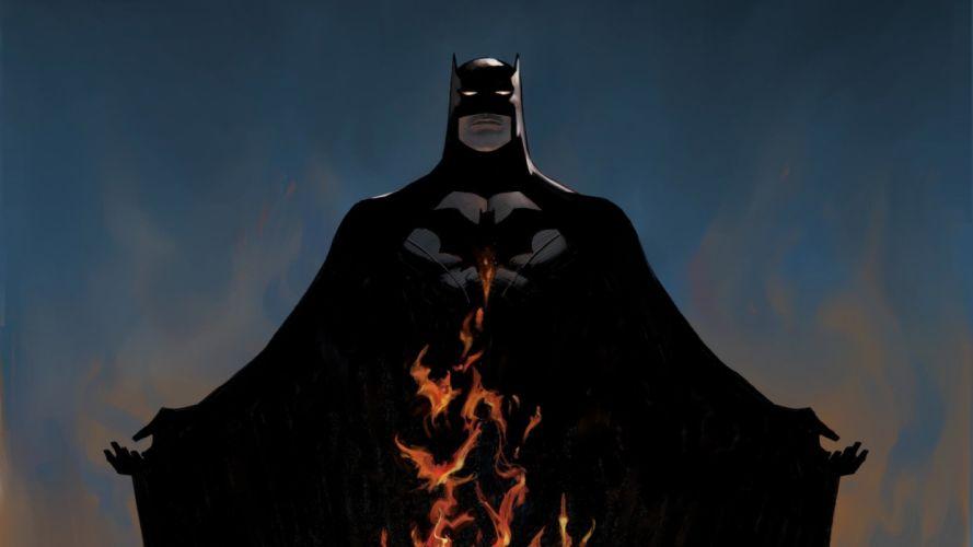 flames Batman DC Comics comics wallpaper