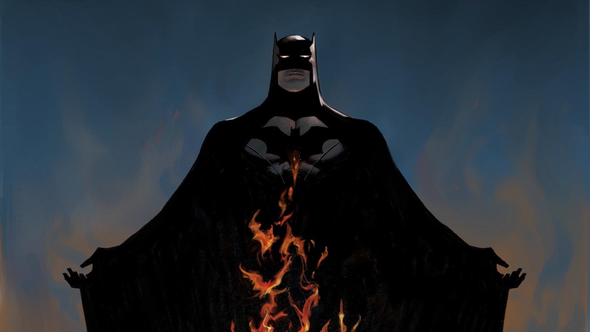 flames batman dc comics comics wallpaper 1920x1080