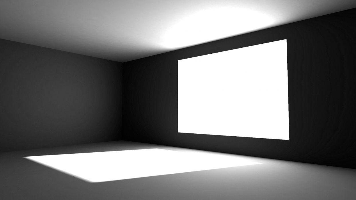 abstract white grayscale monochrome window panes illuminated screens windows  interior design wallpaper