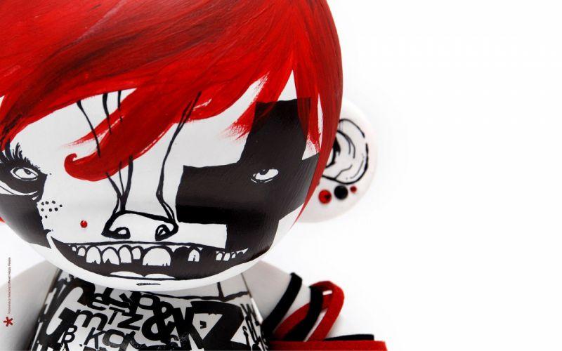 women redheads dolls puppets wallpaper