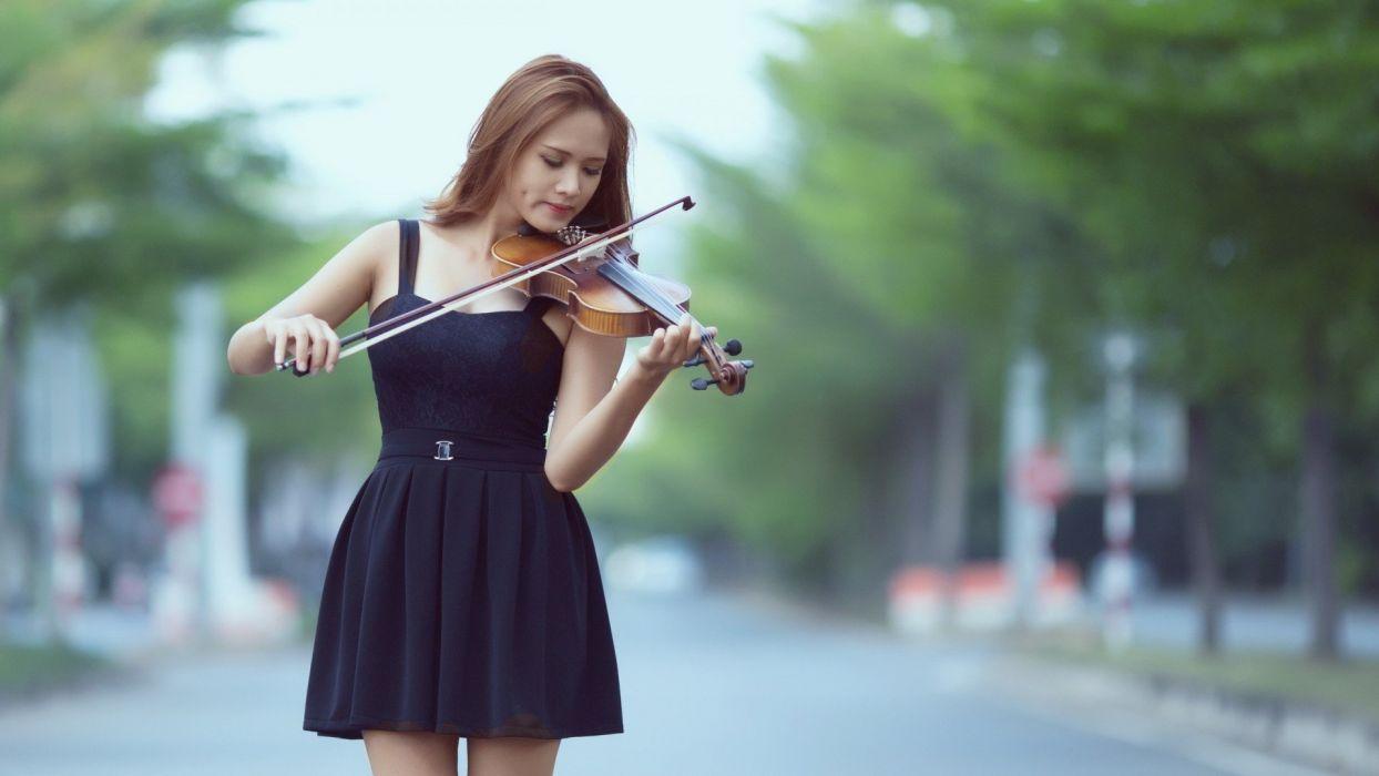 women music outdoors wallpaper