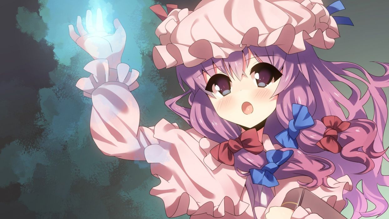video games Touhou Patchouli Knowledge anime girls wallpaper