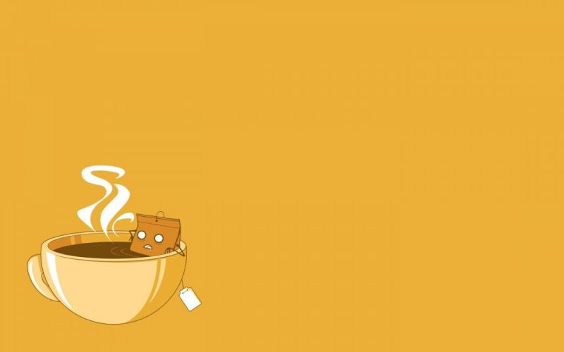 minimalistic coffee vectors funny sauna coffee cups simple background tea bag time relaxed wallpaper