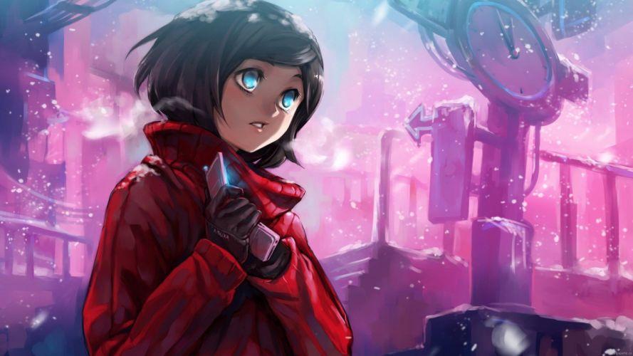 blue eyes anime anime girls wallpaper