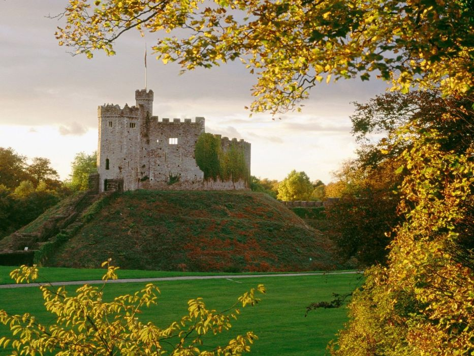 castles motte wallpaper