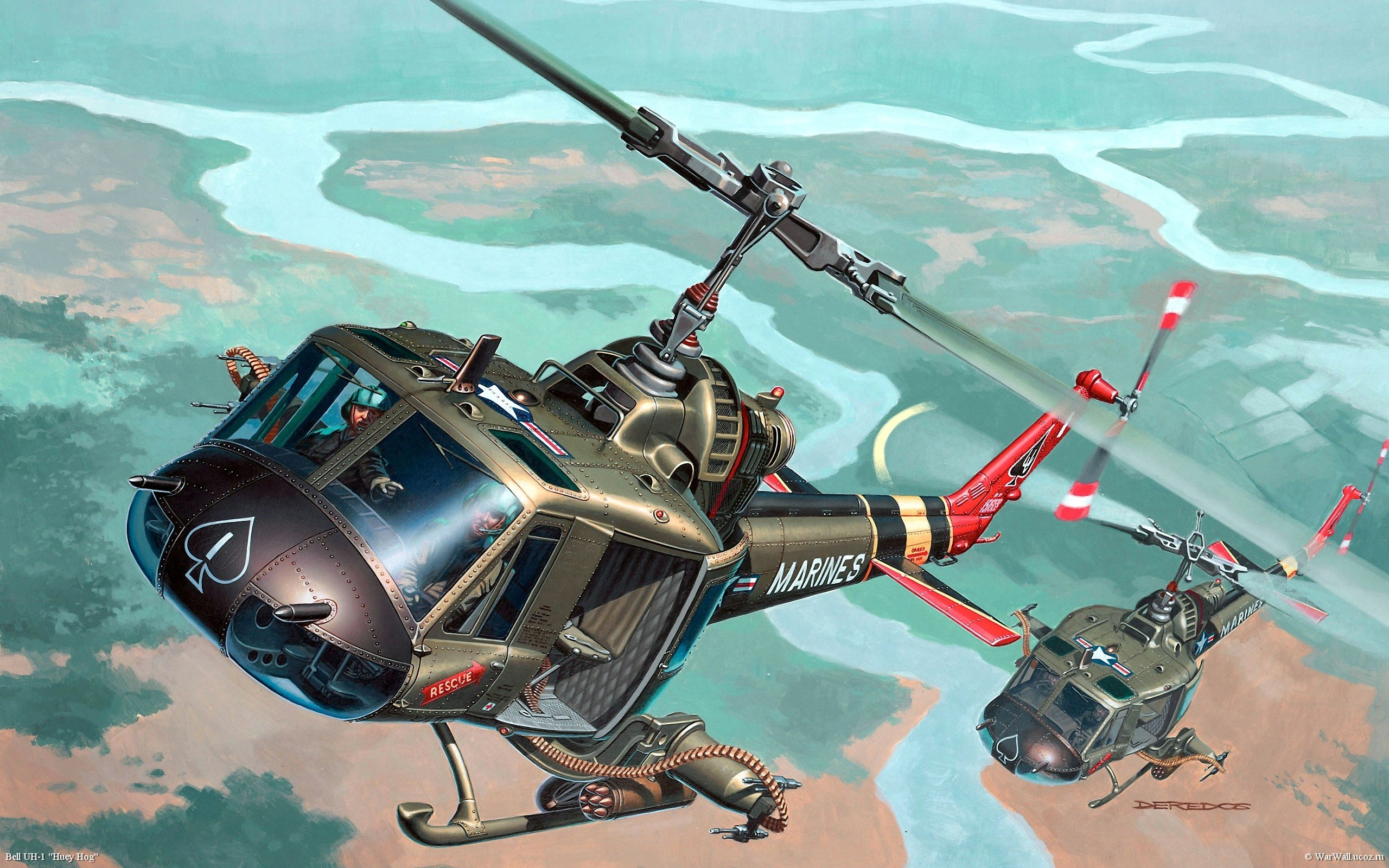 Aircraft Military Helicopters Artwork Vehicles Rivers Art Wallpaper