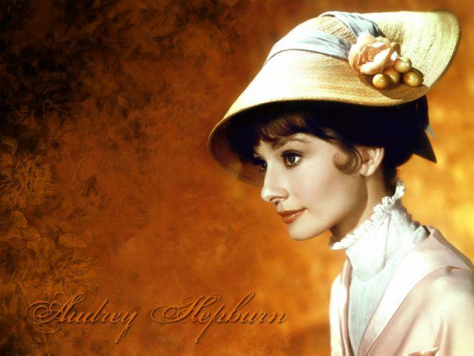Audrey Hepburn My Fair Lady hats wallpaper
