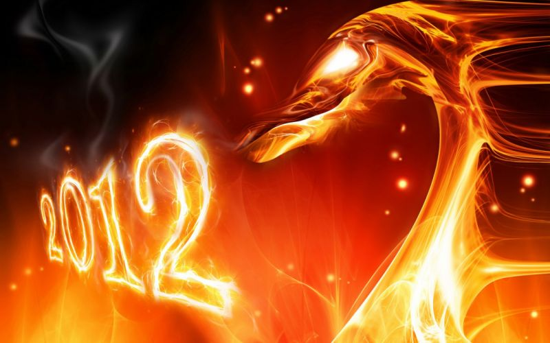 abstract fire New Year wallpaper
