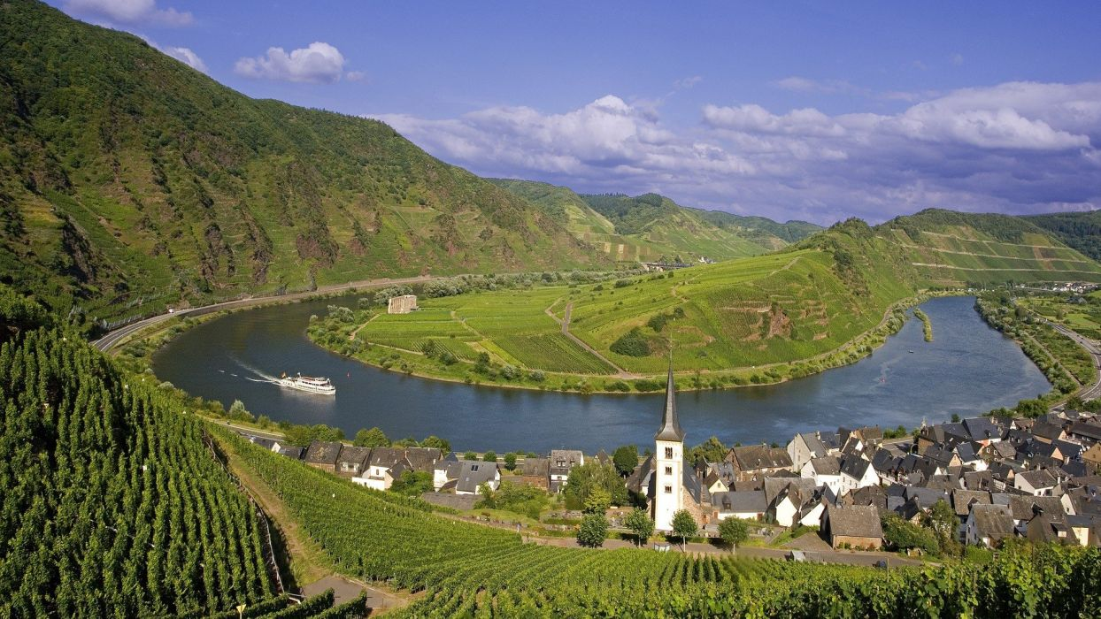 Germany villages rivers wallpaper