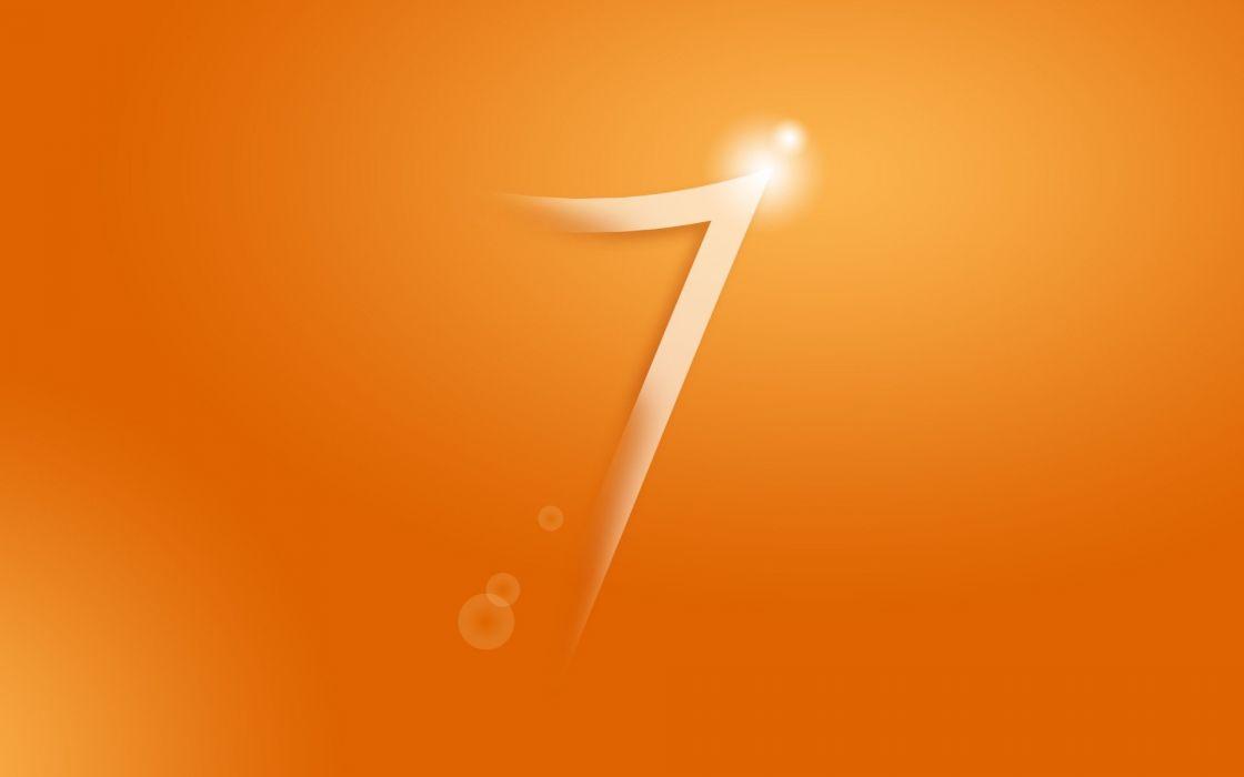 Windows 7 orange wallpaper
