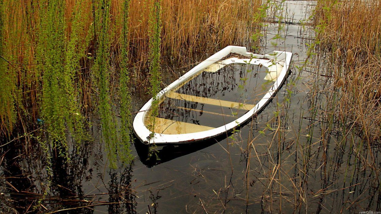 nature wrecks boats vehicles wallpaper