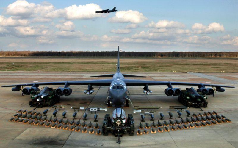 aircraft bomber B-52 Stratofortress wallpaper
