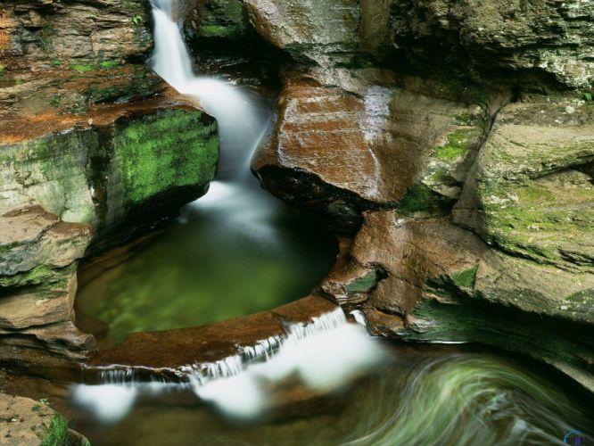 long exposure swimming pools waterfalls wallpaper