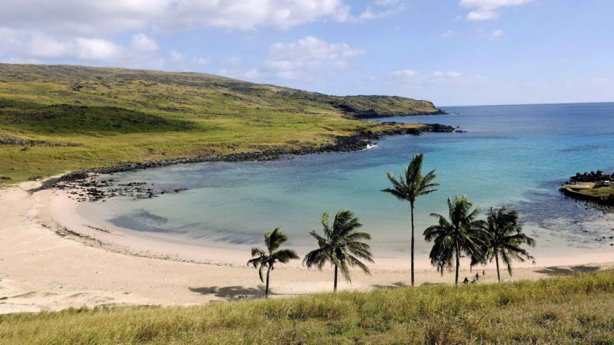 Chile Easter Island beaches wallpaper