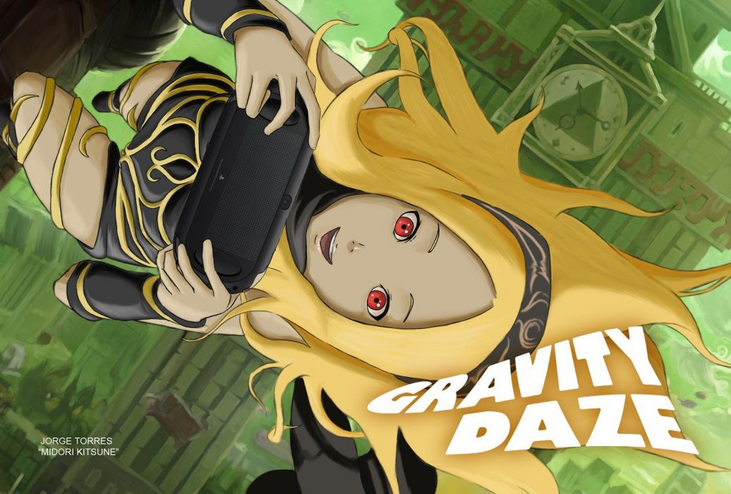 Gravity Daze wallpaper