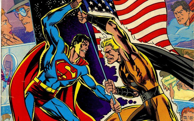 comics Superman American Flag wallpaper
