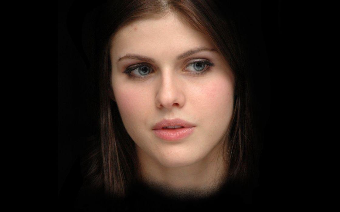 brunettes women blue eyes faces Alexandra Daddario wallpaper
