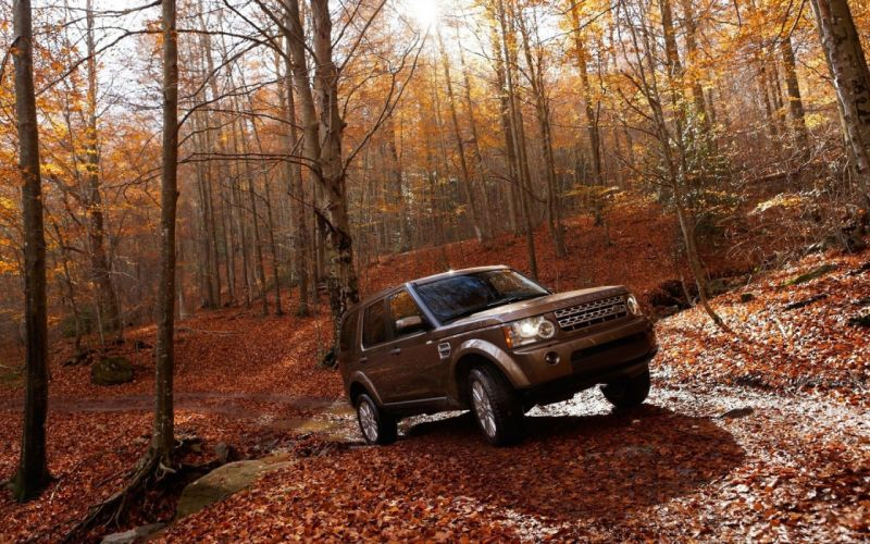 landscapes nature autumn forests cars Land Rover vehicles SUV offroad Land Rover Range Rover Vogue wallpaper