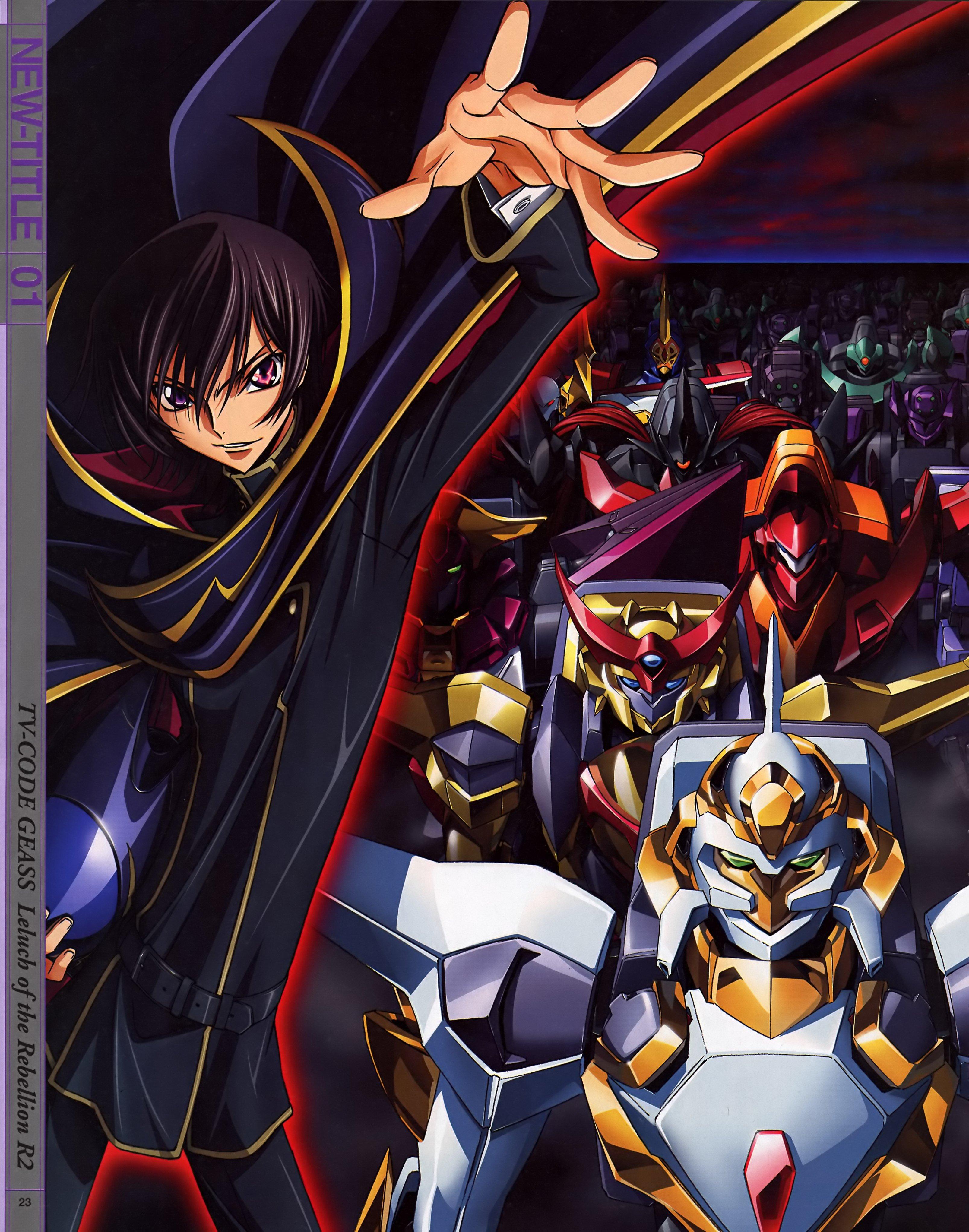 Code Geass Artbook Artwork Lamperouge Lelouch Cover Anime Knightmare Wallpaper