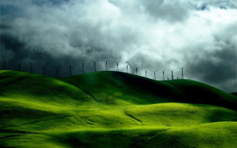 green nature grass fields hills India skyscapes kerela wallpaper