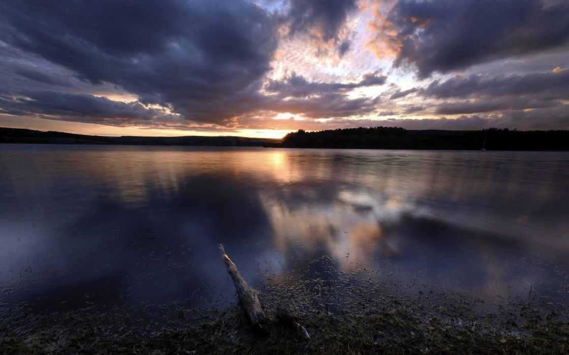 sunset landscapes nature lakes wallpaper