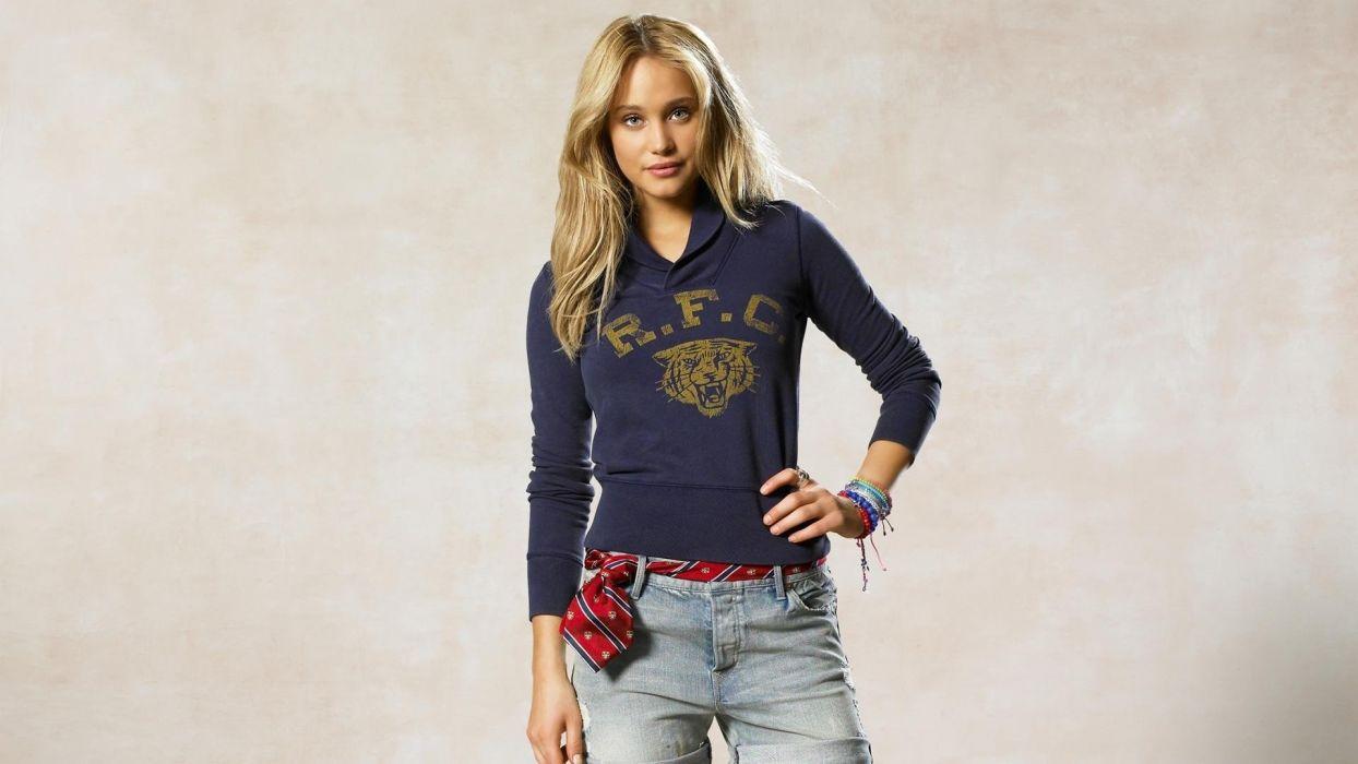 blondes women models Hannah Davis wallpaper
