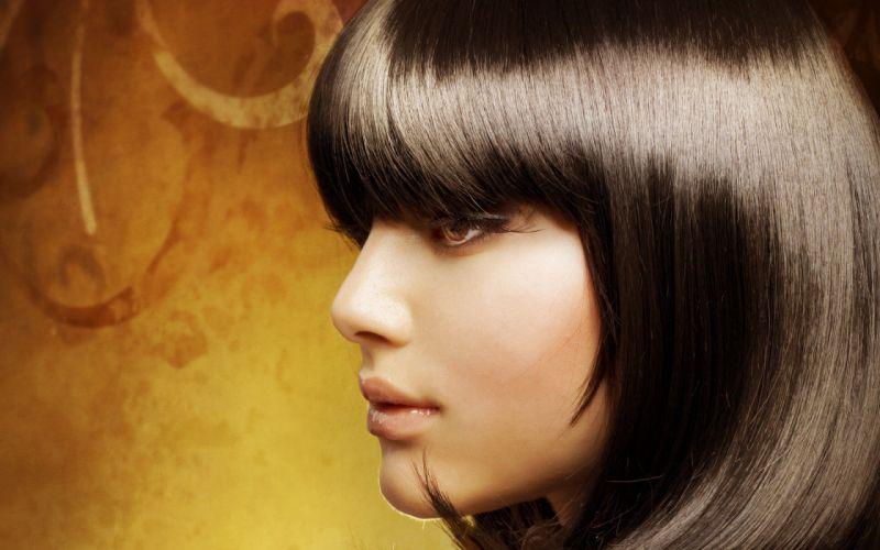 brunettes women models faces wallpaper