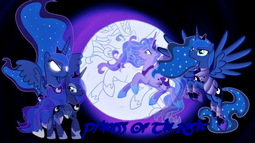 luna ponies Princess Luna My Little Pony: Friendship is Magic wallpaper