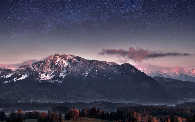 mountains landscapes stars interfacelift Jonathan Besler wallpaper