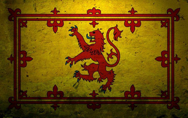 Scotland emblems lions wallpaper