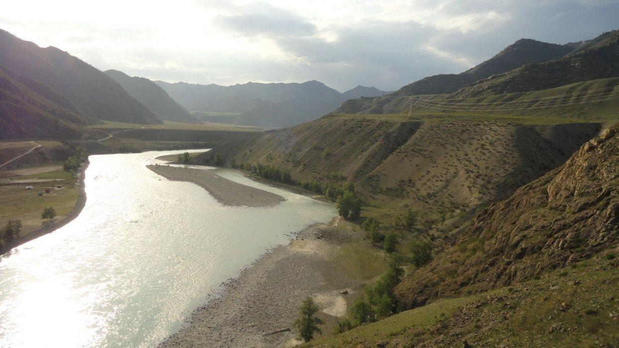 landscapes nature hills rivers wallpaper